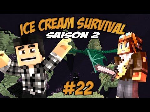 UN ENDER DRAGON VERT !! - Ice cream survival s2 #22