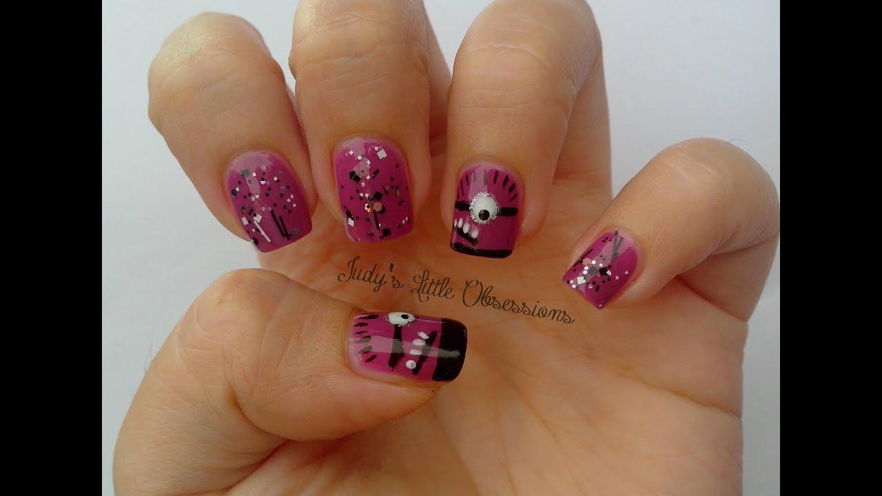 evil minion nail art youtube
