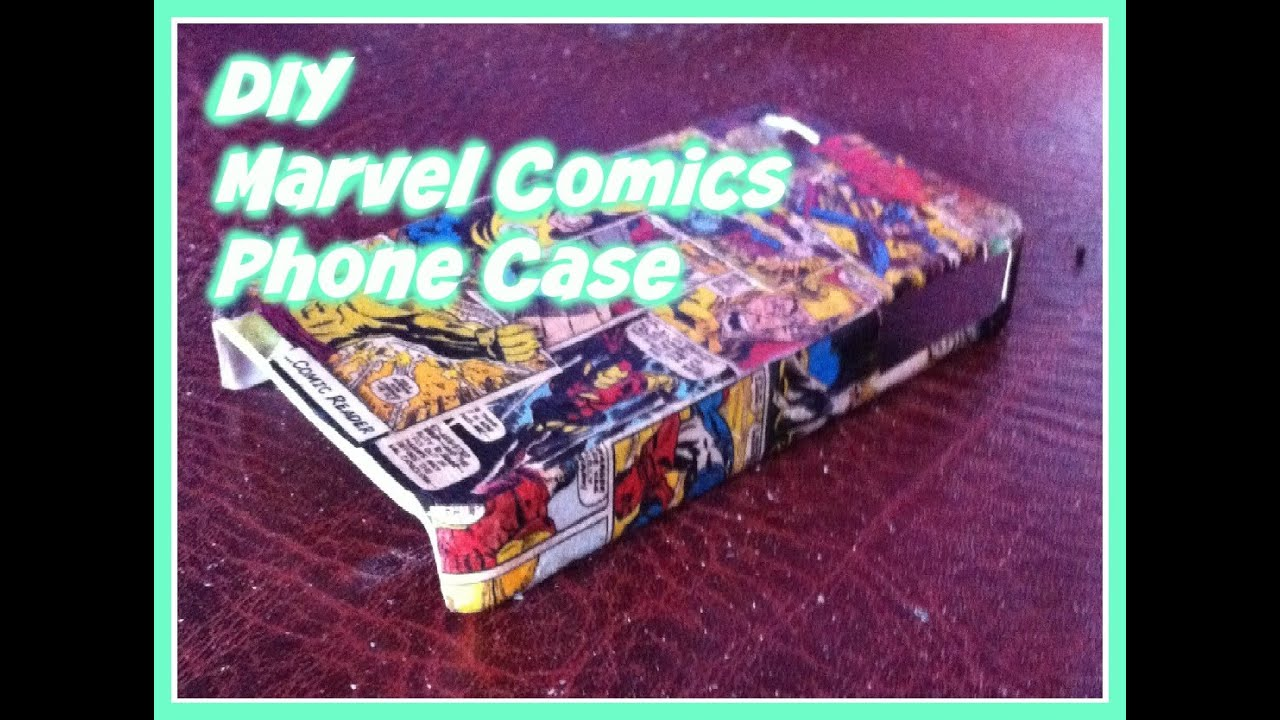 DIY Marvel Comics Phone Case - YouTube