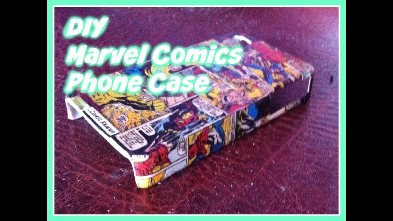 DIY Marvel Comics Phone Case - YouTube