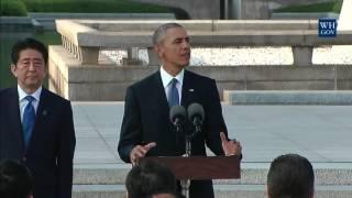 Obamas Historic Visit To Hiroshima Memorial - Full Ceremony & Speech