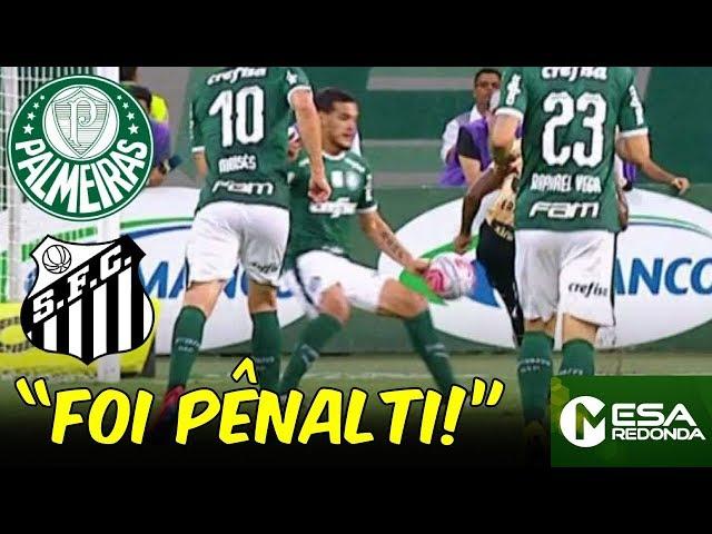 """FOI PÊNALTI!"" | LANCES POLÊMICOS de Palmeiras x Santos (24/02/19)"
