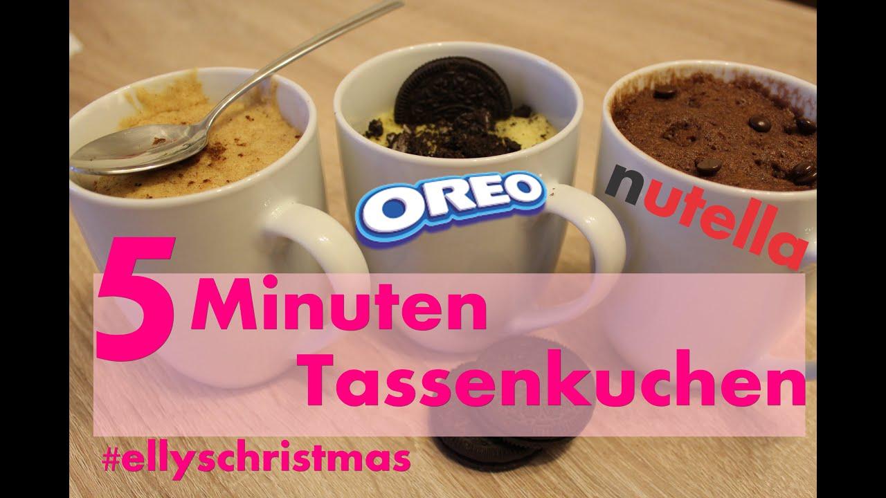 Tassenkuchen Schnell In Unter 5 Minuten Oreo Nutella Nuss Mug