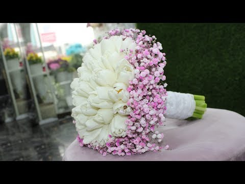 Wedding flower bouquet tutorial.  How to make Wedding flowers bouquet with tulips Mp3