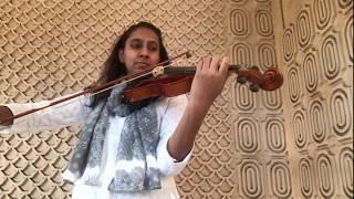 Pyar Hua Chupke se violin cover by Aditi Joshi Resimi