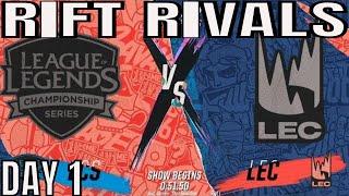 NA vs EU Rift Rivals HIGHLIGHTS ALL GAMES Day 1   Rift Rivals 2019 NA vs EU EU