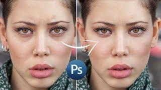 Как убрать круги под глазами и пятна на коже в Фотошопе