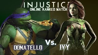 Injustice 2: DONATELLO VS POISON IVY - Online Ranked Match