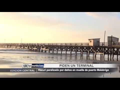 Rázuri paralizado por daños en muelle de puerto Malabrigo