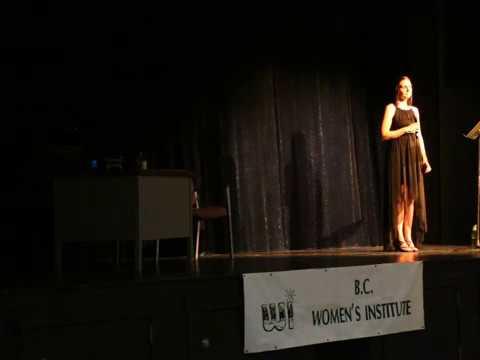 Renée Withers singing for the B.C. Women's Institute in Vanderhoof, British Columbia - July, 2017