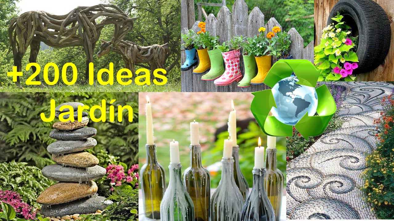 Reciclado para decorar jard n ideas recycling for garden for Ideas para decorar paredes de jardin