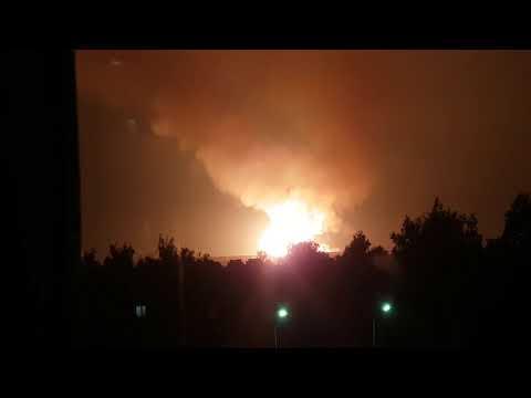 Взрыв газопровод в поле город сергач