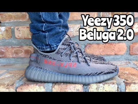 "adidas Yeezy 350 BOOST V2 ""Beluga 2.0"" on feet - YouTube"
