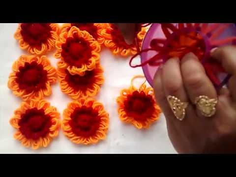 how to make beautiful wool flower  फूल  बनाने  की  विधि