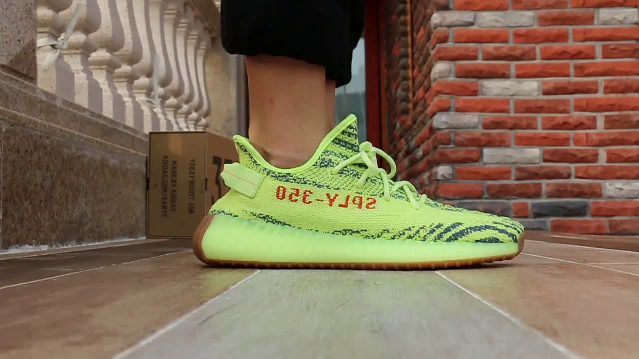 "Final Version Yeezy 350 Boost V2 ""Semi Frozen Yellow"" On Foot Review"