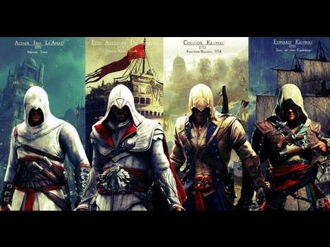 Assassin's Creed I - II - III & IV trailers (Music: two steps from hell) [HD]
