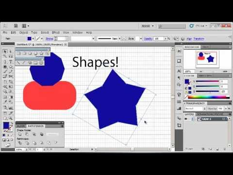 Adobe Illustrator CS5 Tutorial 2 | Shapes