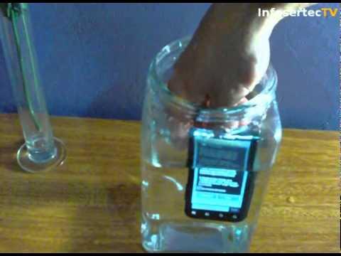 Motorola Defy prueba de agua