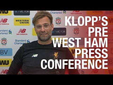 Jürgen Klopp's West Ham press conference live from Melwood