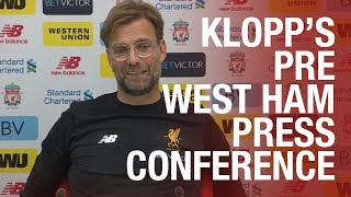 Jürgen Klopp's West Ham press conference live from Melwood