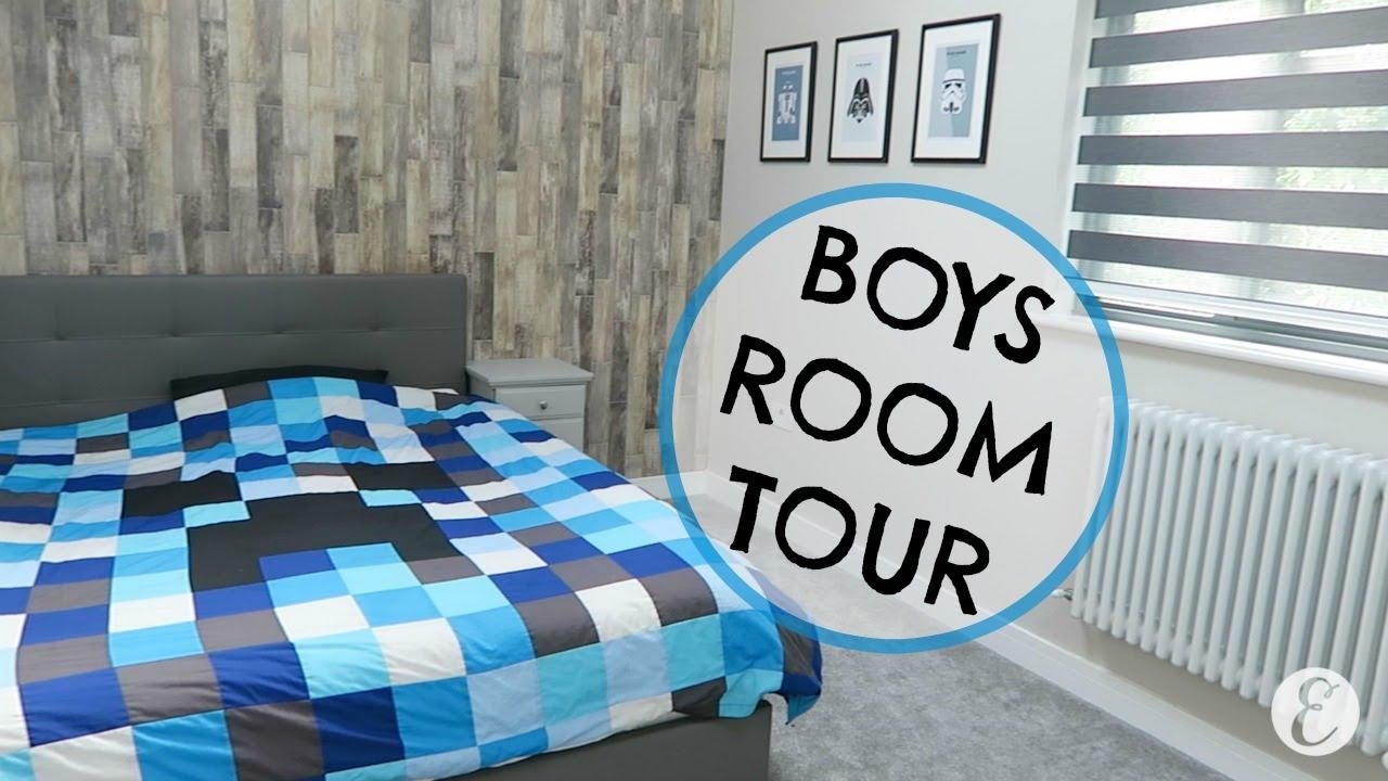 BOYS ROOM TOUR & STORAGE IDEAS | BIG BOY ROOM TOUR - YouTube