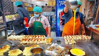 EGG  BURGER MAKING | Super Fast Cooking Skills | Egg Anda Bun Kabab At Street Fod Of Karachi.