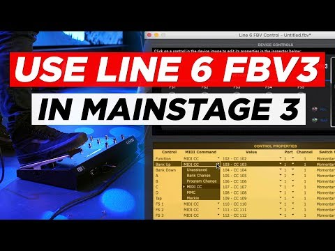 How to use the Line 6 FBV3 in MainStage 3