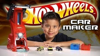 Video HOT WHEELS CAR MAKER Playset Review & Demo download MP3, 3GP, MP4, WEBM, AVI, FLV November 2017