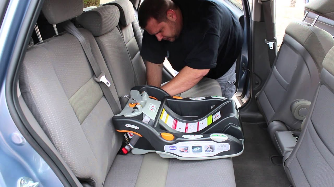 chicco key fit  car seat install honda crv youtube