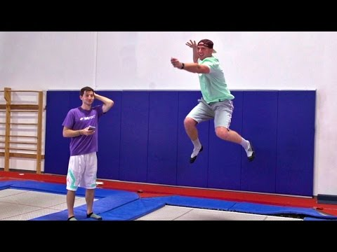 Thumbnail: Trampoline Charades Battle | Dude Perfect