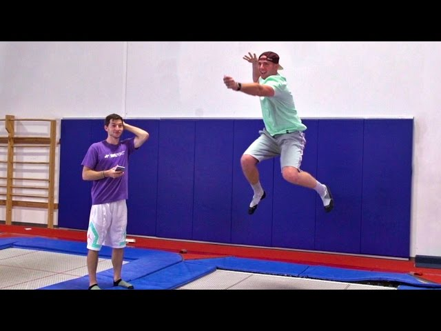 Trampoline Charades Team Battle | Dude Perfect