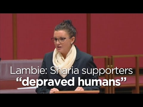 Senator Lambie says sharia supporters are 'maniacs and depraved humans'