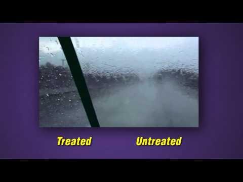 Invisible Glass with Rain Repellent