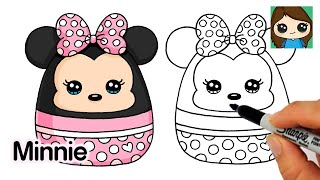 How to Draw Minnie Mouse Easy | Squishmallows