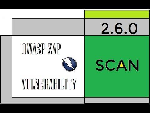 basic web vulnerability scan using owasp zap 2.6.0
