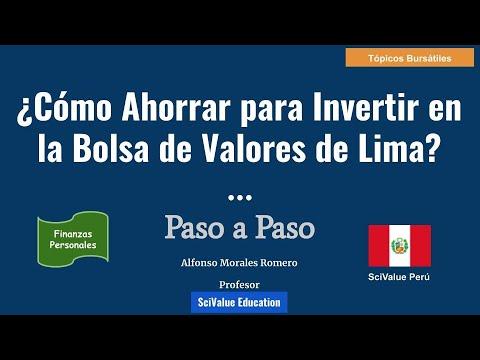 Para Fp En Lima Como 1 Bolsa Invertir La Ahorrar De Valores zVqMUpLGS