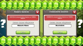 NAME & CLANNAME ÄNDERN?! ☆ Clash of Clans ☆ CoC