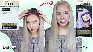 BLEACHING AND TONING MY HAIR USING B BLONDE BLEACH AND LILAC TONER | TUTORIAL | ELLIE KING