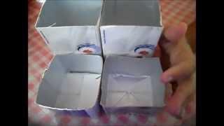 Porta treco com caixinhas de leite por Pamela Simone