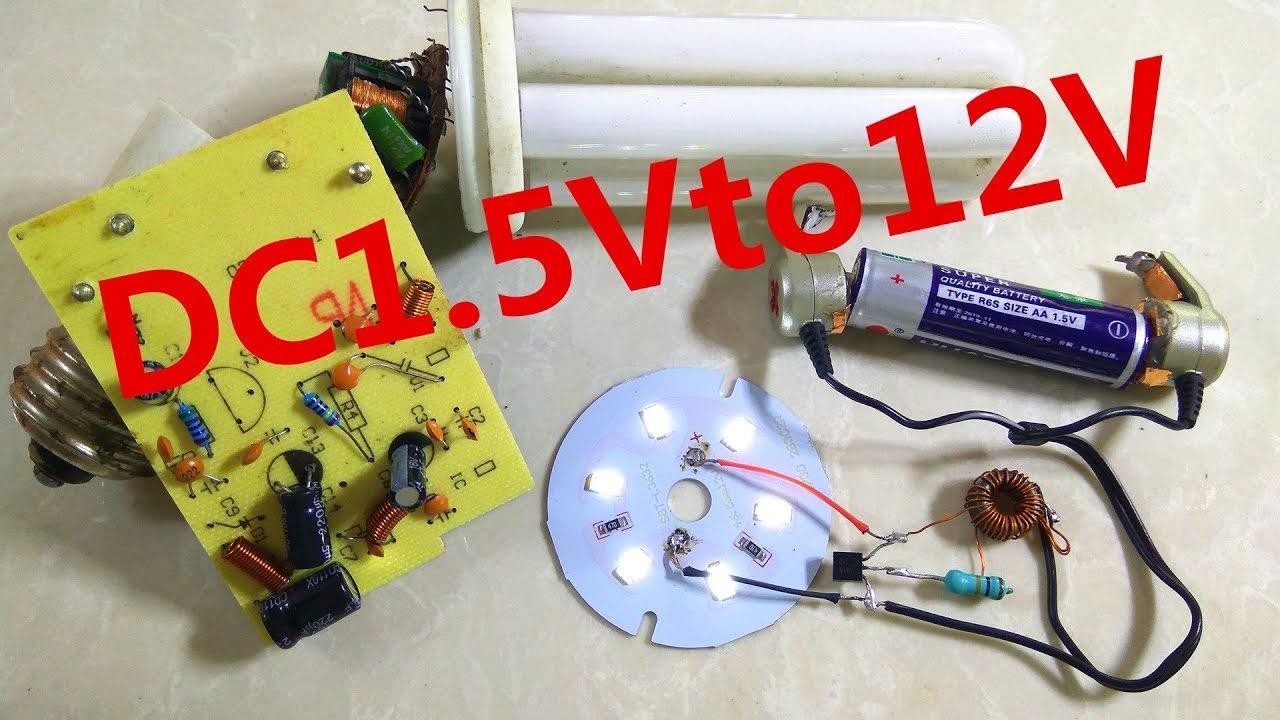 How To Make 1 5v To 12v Led Panel Inverter