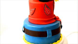 Western Cowboy Theme Cake