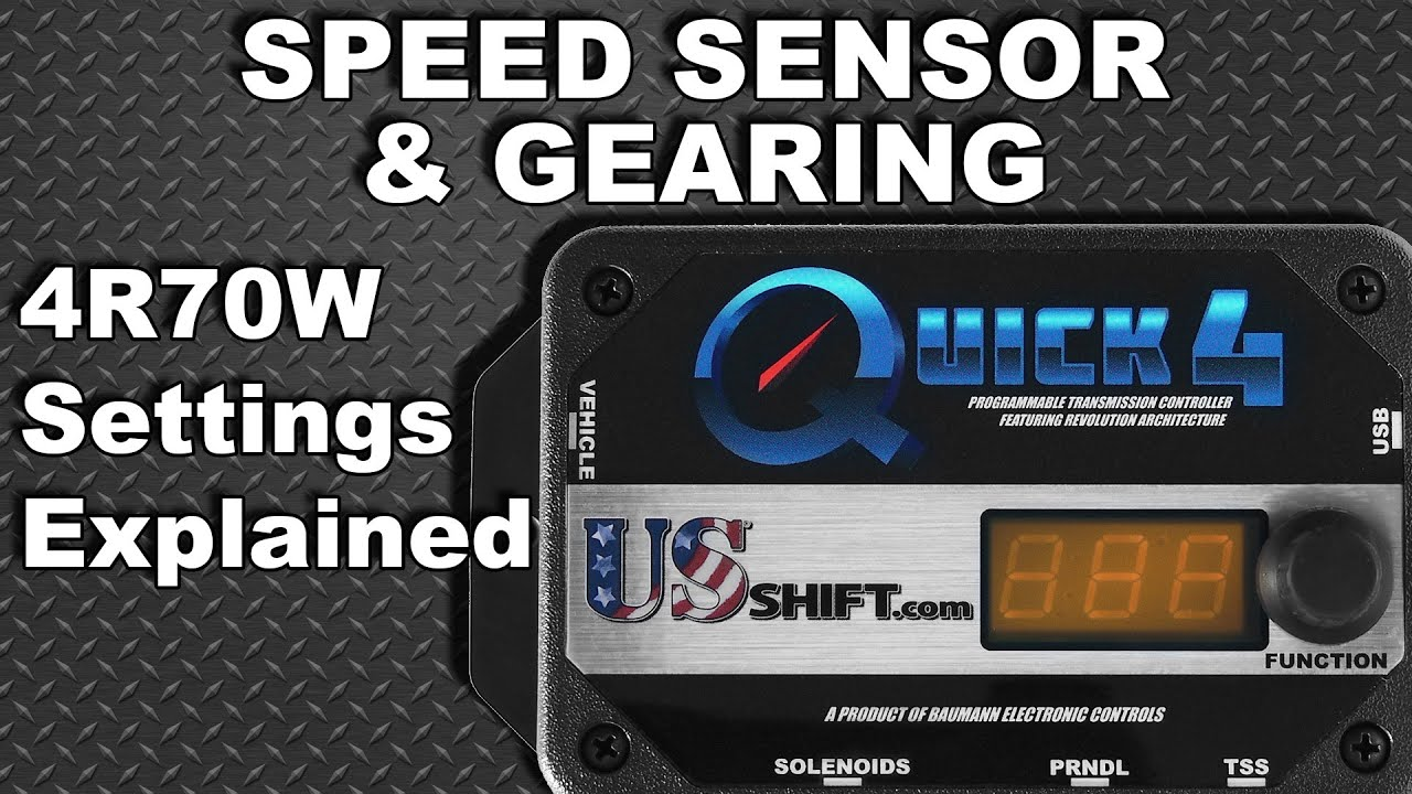 hight resolution of ford 4r70w speed sensor gearing settings explained