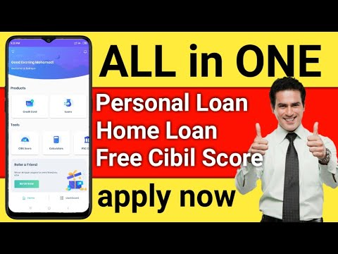 All in One App Apply Credit Card   Personal loan   Home loan   free cibil Score   hindi