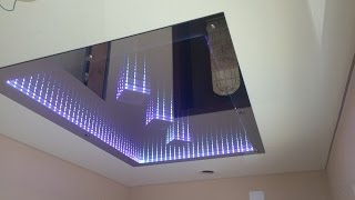 Бесконечное зеркало на натяжном потолке