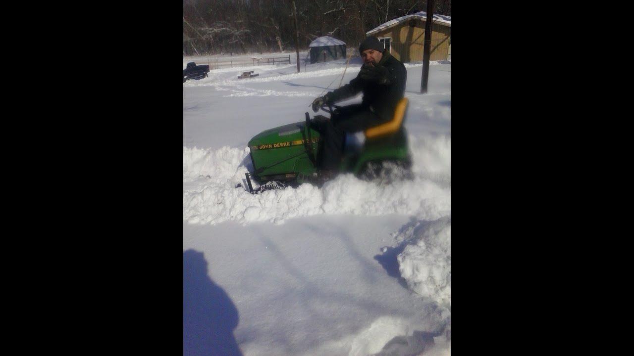 John Deere Snow Plow : John deere lx snow plowing youtube