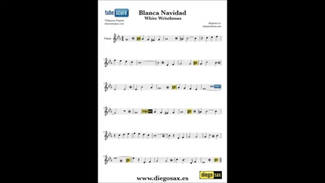 White Christmas sheet music sax flute violin clarinet cello viola ...