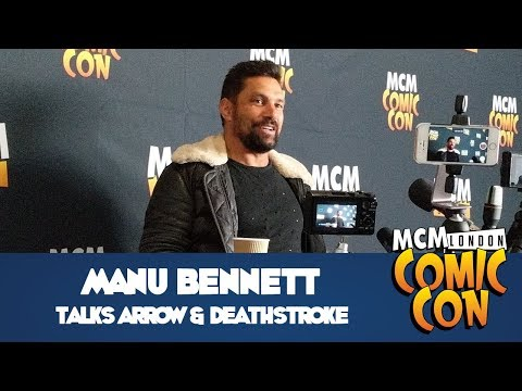 Manu Bennett Press   MCM Comic Con London Saturday  Oct 2017