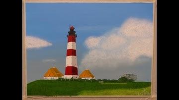 Acrylmalerei für Anfänger / #3 Westerhever Leuchtturm