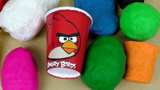 Play Doh ANGRY BIRDS Surprise Fun Unboxing - with Commentary