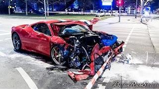 FERRARI 458 SPECIALE CRASHED IN BERLIN
